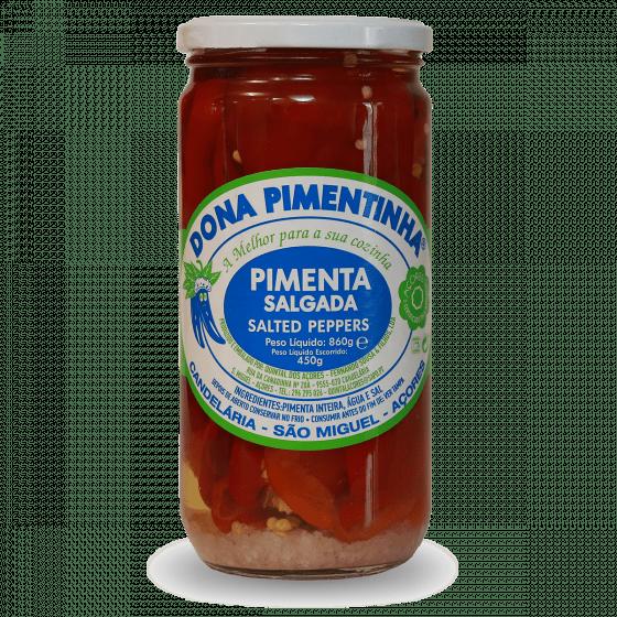 Pimenta em vinagre 770g dona pimentinha açores